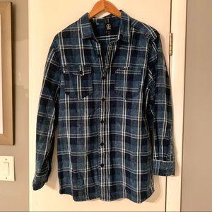 Volcom plaid flannel slim-fit NEVER WORN